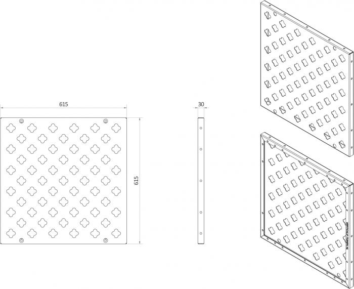 Afmetingen van verticale tuin paneel vierkant