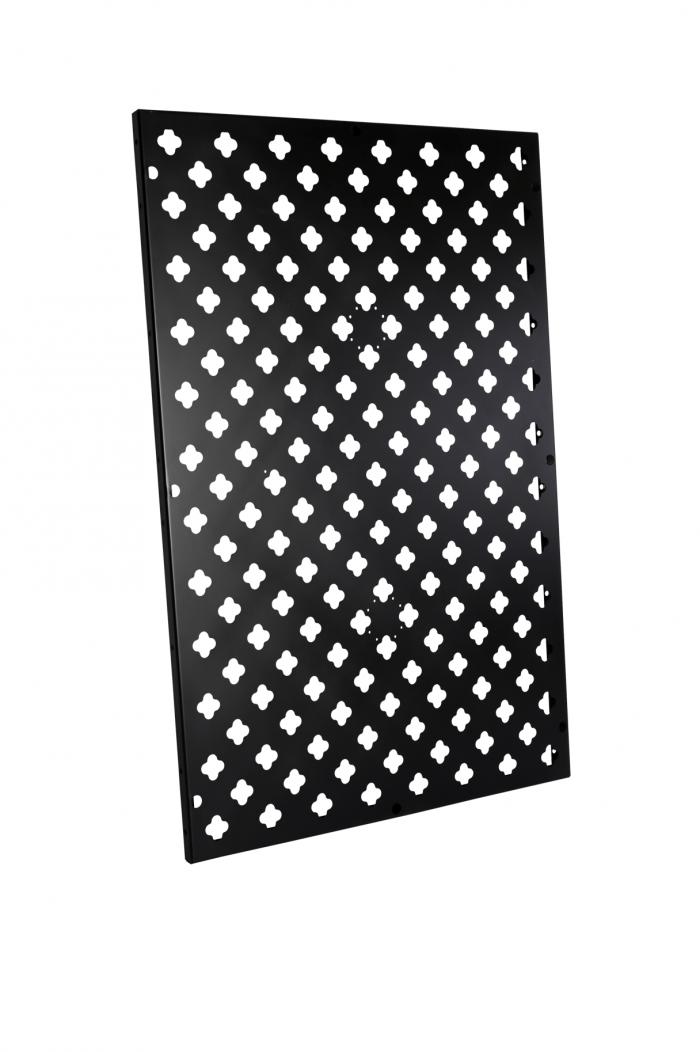 Verticale tuin rechthoekig paneel zwart